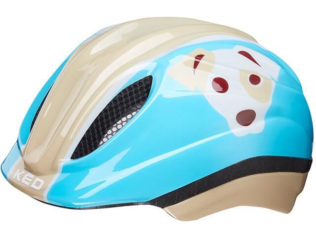 KED Meggy Trend Lapset Pyöräilykypärä , beige/sininen